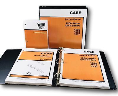 Case 1500 1526 1530 1537 Uni-loader Skid Steer Service Parts Operators Manual