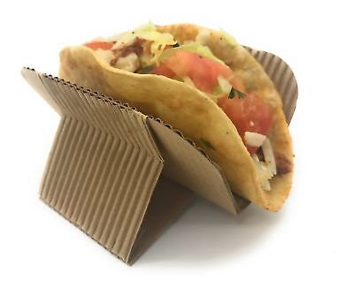 Disposable Taco Holder ([200 COUNT] Disposable Taco Holder Stand - Rack Tray Plates for Serving Hard)