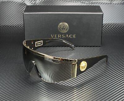 VERSACE VE2197 10005A Gold Light Brown Mirror Gold 40 mm Unisex Sunglasses