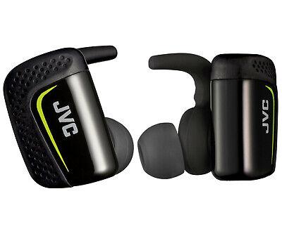 NEW JVC HA-ET90BT Sport True Wireless In-Ear Headphones Black Bluetooth Earbuds