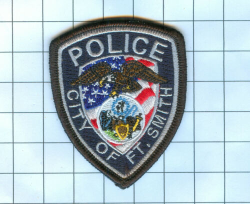 Police Patch Embroidered Mini-Patch Collectibl - Arkansas - Ft. Smith 3 X 2 1/2""