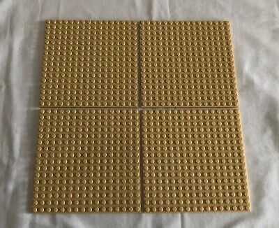 "LEGO Lot of 4 Base plates TAN 16x16 dot 5""x5"" square base plate"