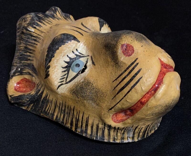 Vintage Original Oaxaca Paper Mache Mask Oddity Bizzare