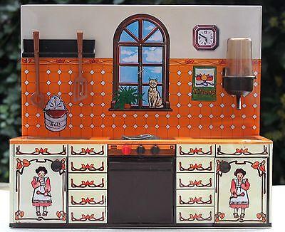 Puppenküche Spielküche aus Blech 70er 70s 80er 80s Puppenhaus Martin Fuchs