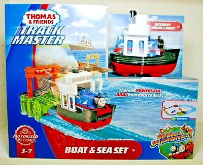 THOMAS AND FRIENDS TRACK MASTER BOAT AND SEA SET 2018 MATTEL MIP MOTORIZED