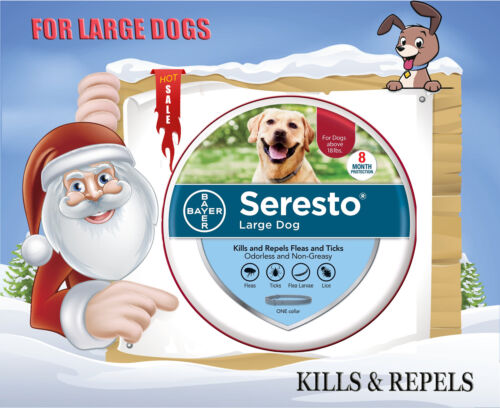 Bayer Seresto Flea and Tick Collar for Large Dogs Over 18lbs 8 Month Protection
