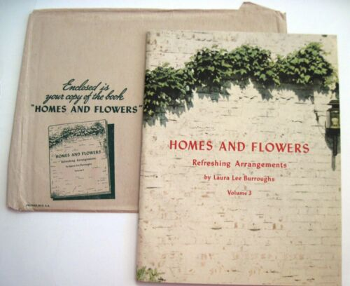 """1942 Booklet """"Homes & Flowers - Refreshing Arrangements """" A Coca-Cola Promotion*"""