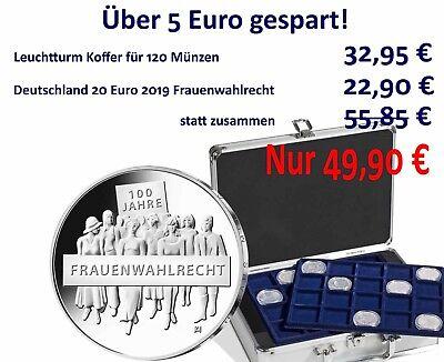 Deutschland 20 Euro 2019 Frauenwahlrecht mit Münzkoffer 322414 für 120 Münzen