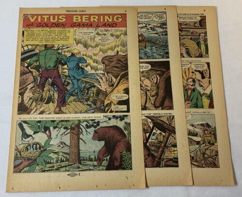 1963 six page cartoon story ~ VITUS BERING ~ Alaska