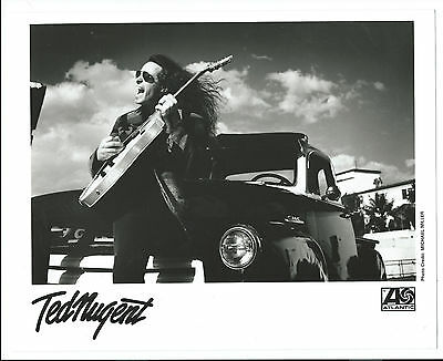 VINTAGE TED NUGENT ORIGINAL GLOSSY PRESS PHOTO 8 X 10 1990's