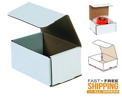 50 Pack Small Shipping Boxes Cardboard 6x4x3 Corrugated Delivery Supplies Strong