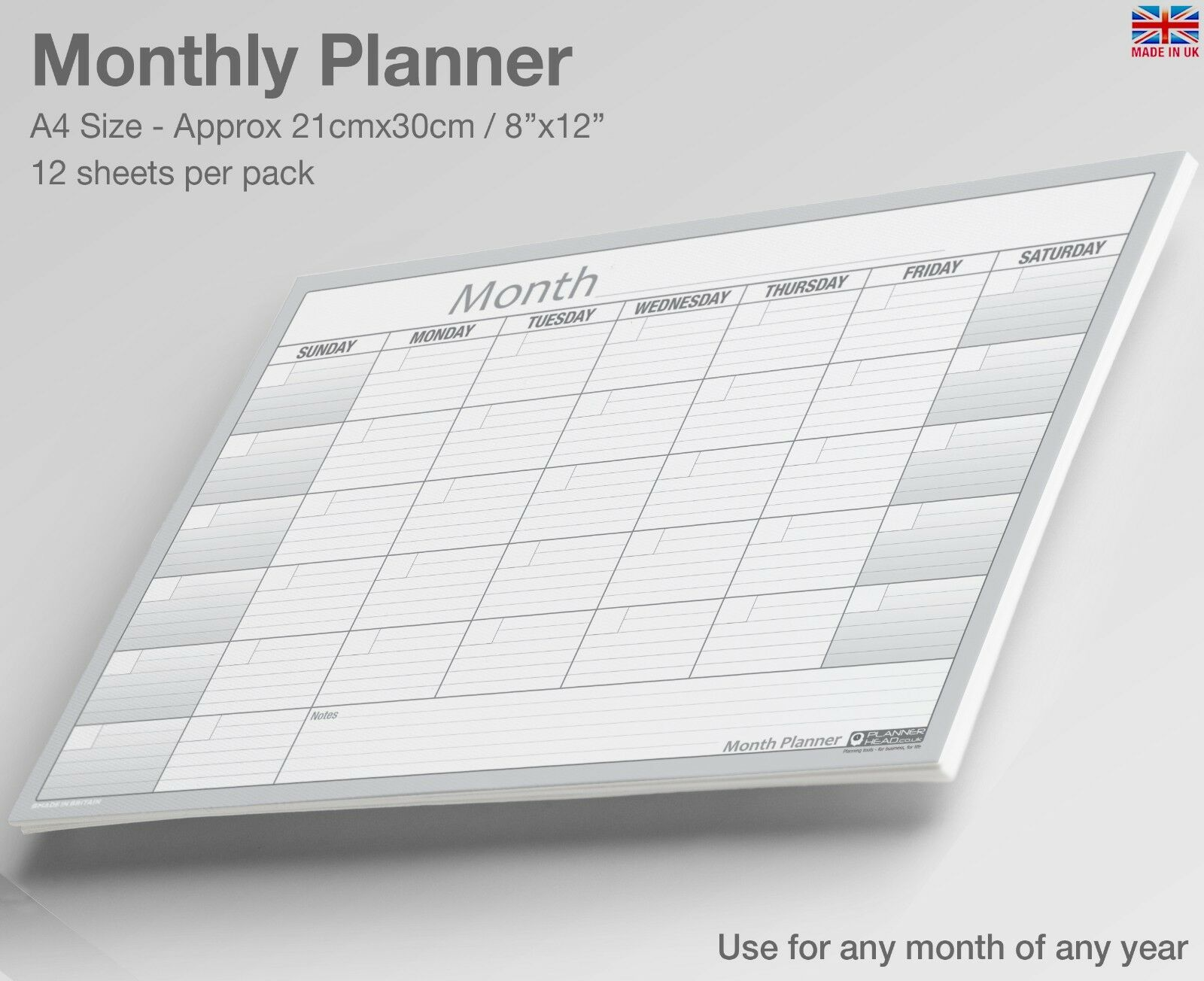 a4 month planner desk wall monthly planner