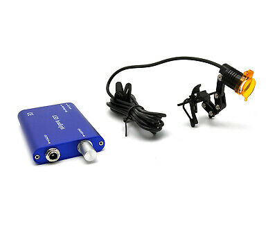 Dental Medical 3w Led Headlight With Filter Clip-on Type Metal Clip Blue