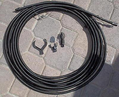 12 Sewer Snake Cable 50 W Drain Bit Auger Cutters Kink Free Inter Core Cable
