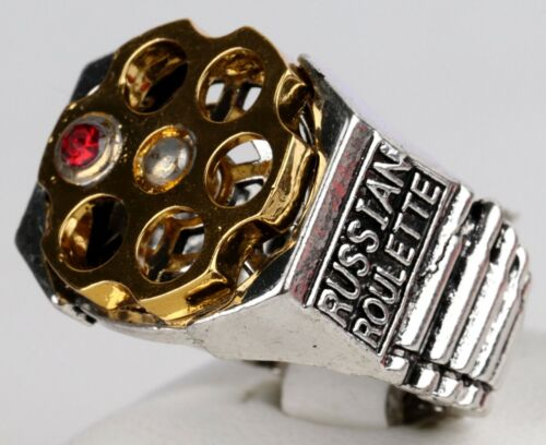 Mans RING Russian Roulette RUSSIA Style BRUTAL Jewelry Massive Size US 13 1/2