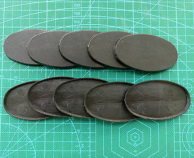 Lot-Of-10-75x42mm-Oval-Bases-For-wargames-table games