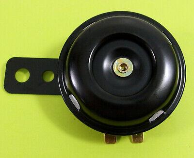 POWER Motorrad Hupe Signal 12V 1,5 A 105dB  Ø 65 mm schwarz - NEU           #040