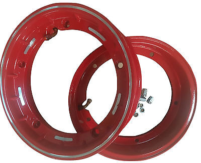 VESPA 10 INCH TUBELESS RIMS X 2 PX LML T5 RED NEW ALLOY PAIR CLEARANCE