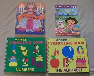 Children Books - Dora, Princess Petal + 2 Stencil Books