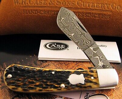 Case Tony Bose Damascus Cotton Sampler Knife 2013 Only 100 Made MIB AAA+ NR