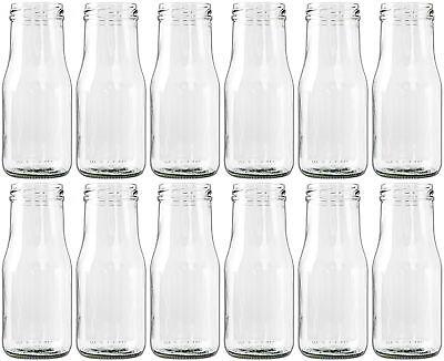 12 x Glasfläschchen, Flasche Vase Tischvasen Glasflaschen Dekoflaschen Väschen