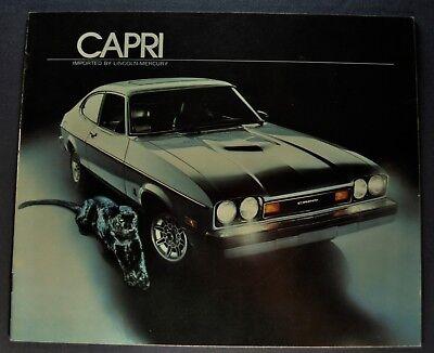 1977 Mercury Capri Brochure Ghia Le Cat Black Rally Cat Excellent Original 77