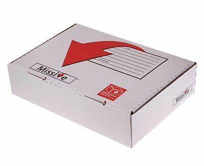 20 x Missive Value Postal Box Small Parcel 318x222x80mm Packing Box Cardboard