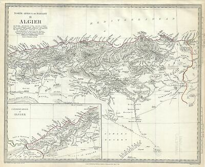 1834 S.D.U.K. Map of Algeria, Barbary Coast, Northern Africa