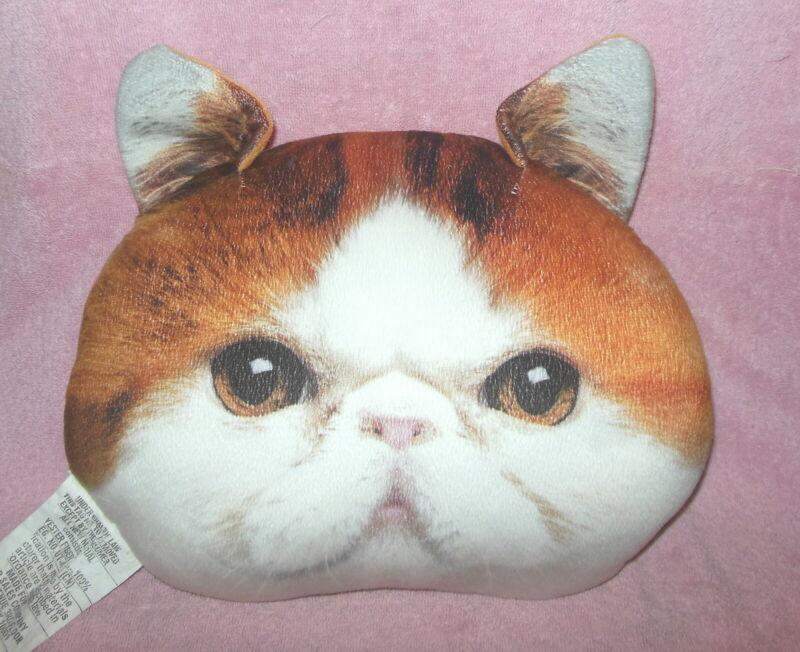 "SNOOPY CAT FACE  HEAD PLUSH DECOR ACCENT PILLOW 15"" ADORABLE!"
