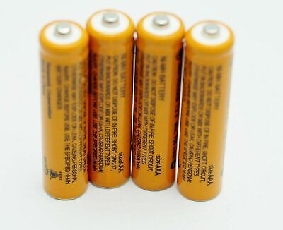 4 pcs 700mAh 1.2V Panasonic AAA NI-MH RECHARGEABLE BATTERY HHR-65AAAB US for sale  College Point