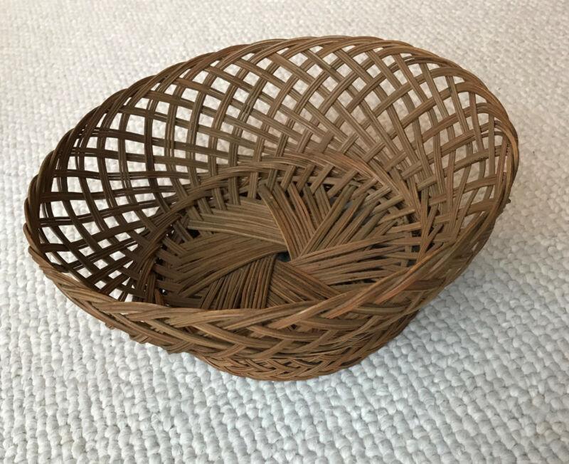 Antique vintage traditional Korean Asian handmade decorative fruit basket