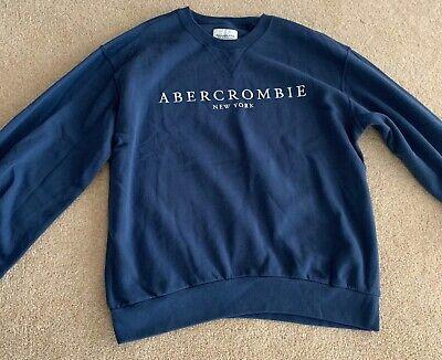 Abercrombie & Fitch Sweatshirt in Airforce Blue Size Medium