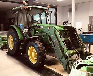 Tracteur agricole John Deere 5093 E 4x4 chargeur