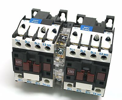 NHD Reversing Motor Contactor up to 10HP 440V coil Electrical Mechanic Interlock