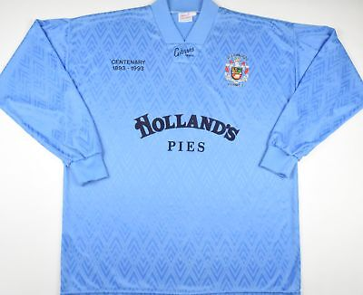 1993 ACCRINGTON STANLEY CENTENARY GIBSONS SPORT AWAY FOOTBALL SHIRT (SIZE XL) image