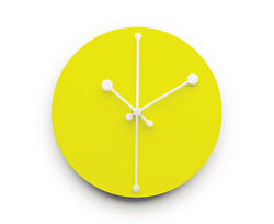 Alessi - ABI11 Y Dotty Clock, Wall Clock 20cm Diameter, Yellow