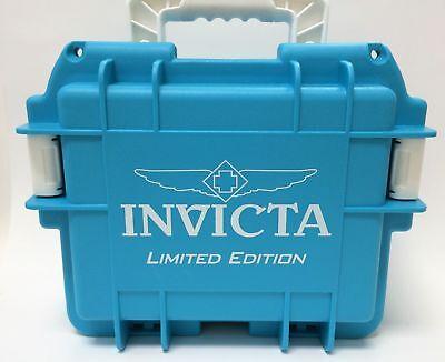 NEW, Invicta Men's Black Three 3 Slot Dive,Diver Box Case Watch, Aqua Blue ()