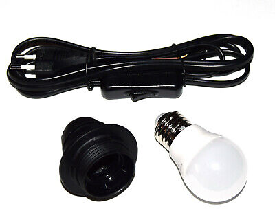 Kit para lampara casquillo E27 + cable con enchufe interuptor red +...