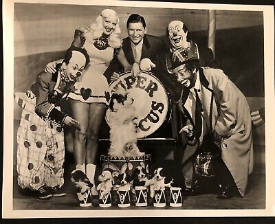 SUPER CIRCUS CAST with MARY HARTLINE, ABC TV, Chicago, Personalized Autograph