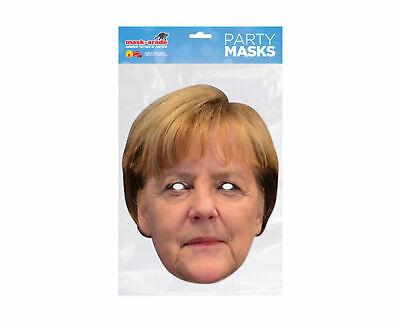 Angela Merkel - Promi Maske - hochwertiger Glanzkarton - Promi Maske