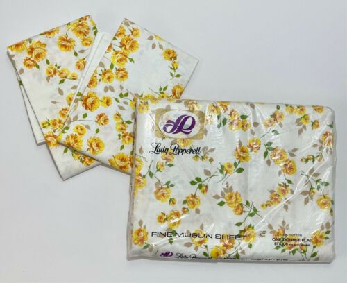 Vintage Deadstock Floral Sheet with Pillowcases | Lady Pepperell