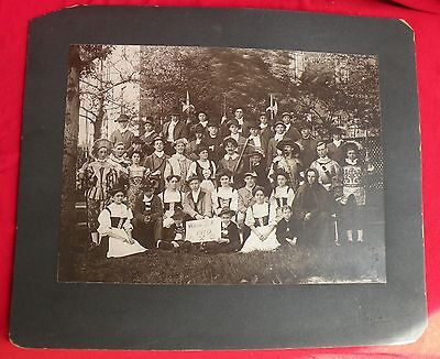 1910 WILHELM TELL William Theatre Play Show Costume Group Photo Belleville ILL - Fun Group Costumes