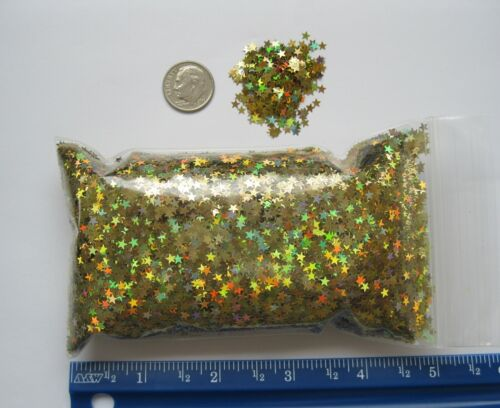 "STAR GLITTER - GOLD STARS - 1/8"" / 3.175mm (1.5 ounce bag)"