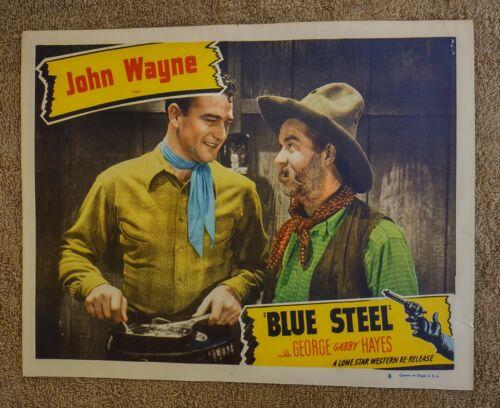 "BLUE STEEL 1934 Original Re-Release LOBBY CARD 11""x14"" MOVIE POSTER JOHN WAYNE"