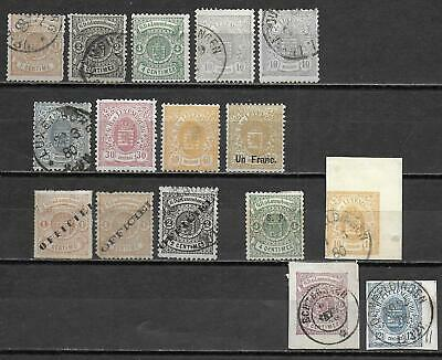 Luxembourg stamps 1875 Collection of 16 CLASSIC stamps HIGH VALUE!