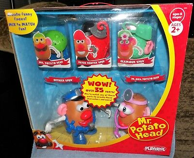 Mr And Mrs Potato Head Set (MR. POTATO HEAD DELUXE SET OFFICER SPUD,DR MRS SPUD, GLAMOUR SPUD, FRYER)