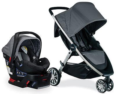 Britax B-Lively Stroller & B-Safe 35 Infant Car Seat Travel System Dove NEW