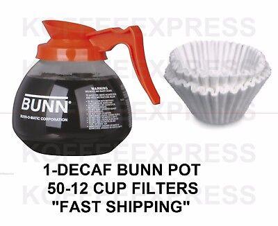 Bunn Coffee Carafe Decaf Orange 64oz 12 Cup 50 Free Cf12 Cup Bunn Filters