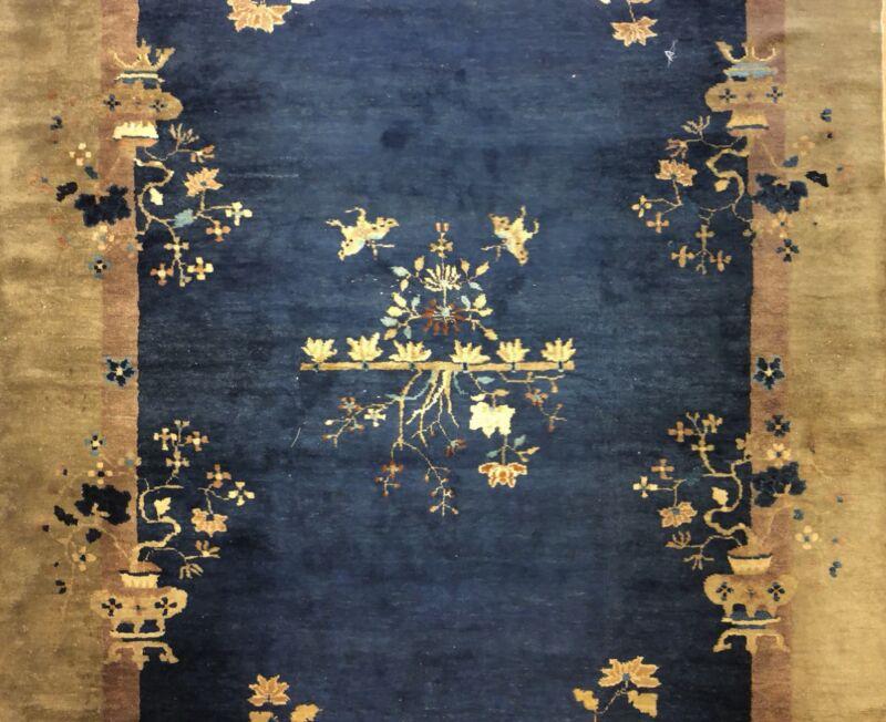 Antique Art Deco - 1920s Art Nouveau Rug - Chinese Oriental Carpet 6.2 X 9.5 Ft.