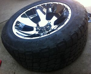 """NITTO Terra Grappler tires with 22"""" MKW rims"""